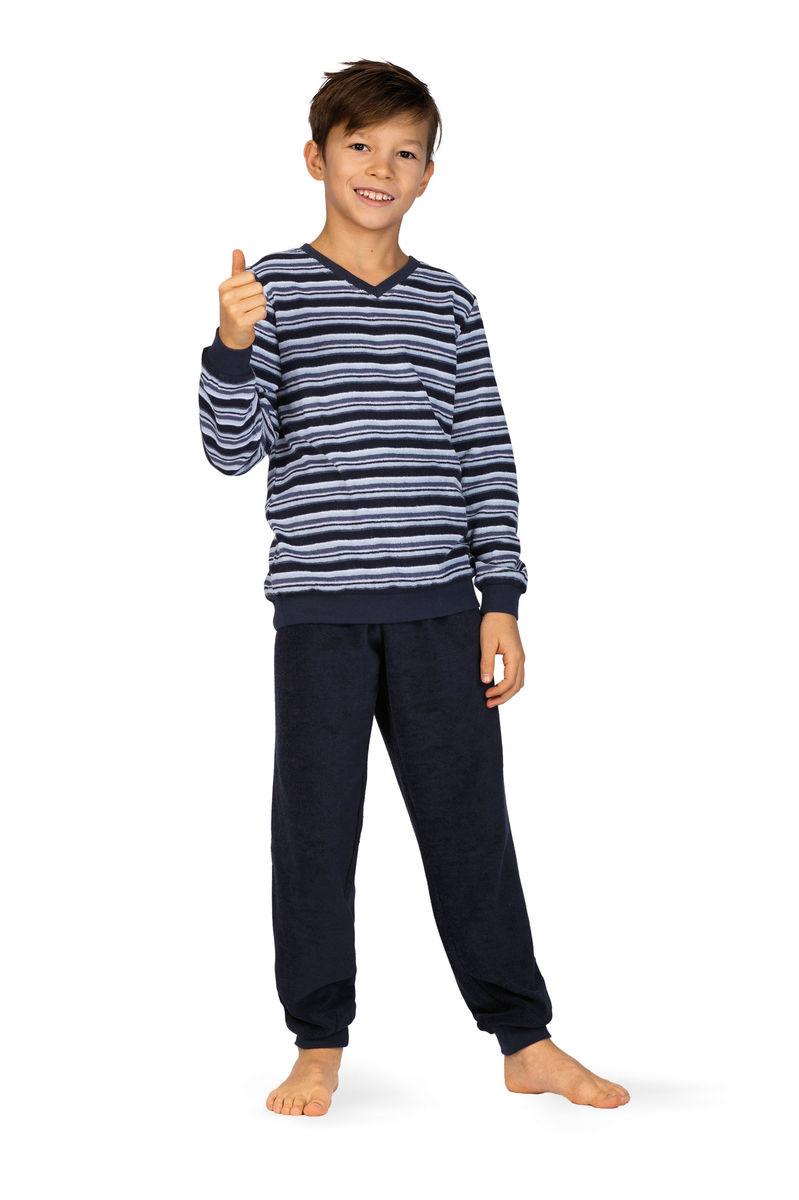 Jongens pyjama blauw badstof
