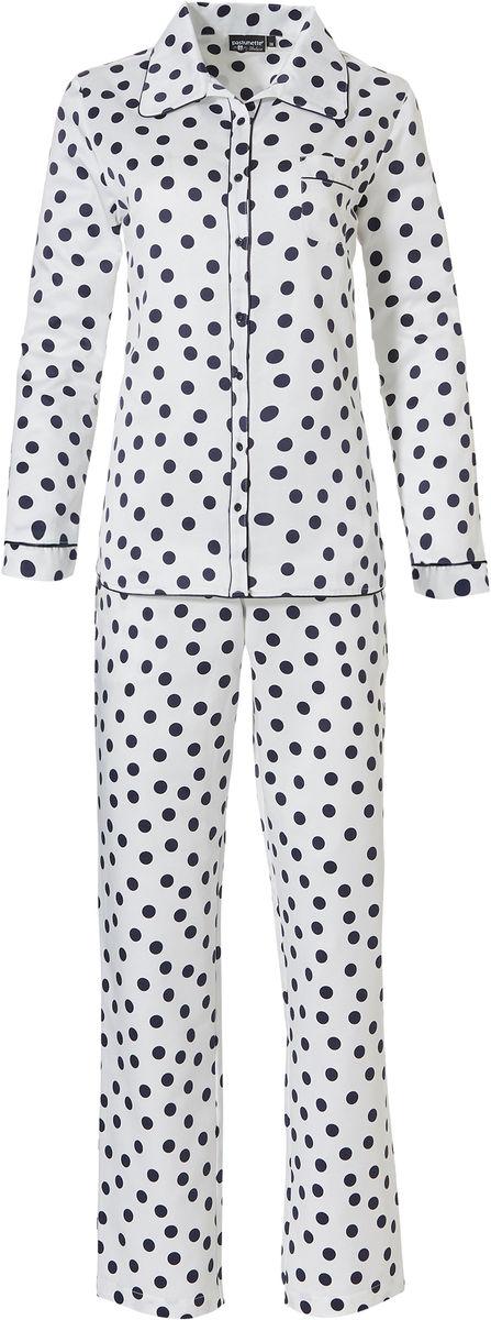 Doorknoop dames pyjama satijn