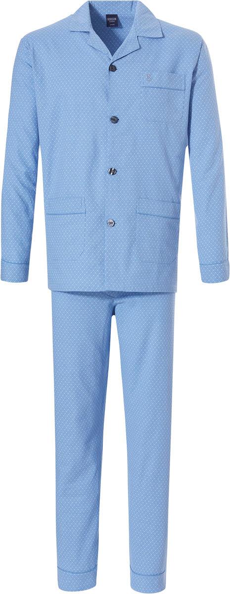 Flanellen Robson heren doorknoop pyjama