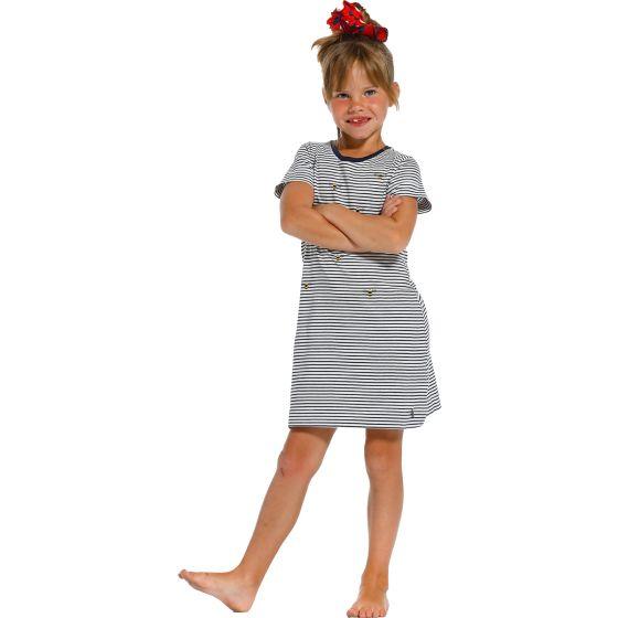 Blauw gestreept meisjes nachthemd