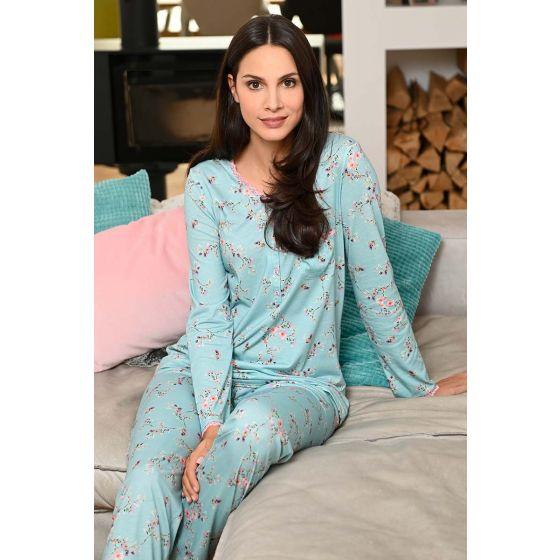 Bloemen pyjama blauw Ringella
