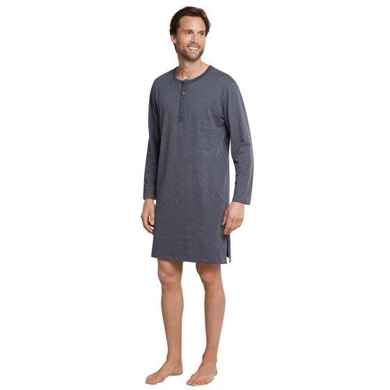 Heren nachthemd antraciet Schiesser