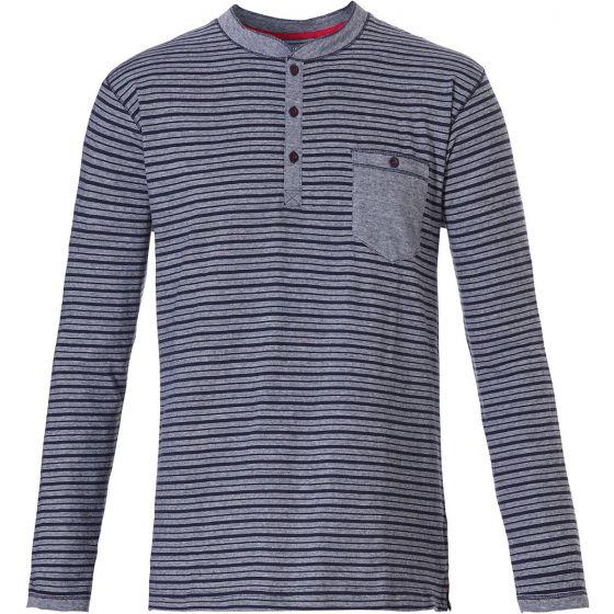Gestreept pyjama shirt lange mouw