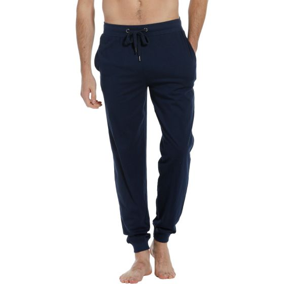 Blauwe lange pyjama broek