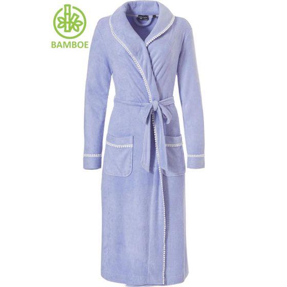 Badjas bamboe blauw Pastunette Deluxe