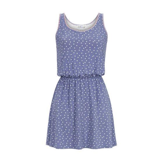 Blauw nachthemd stippen van Bloomy