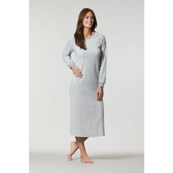 Lang grijs badstof nachthemd Ringella