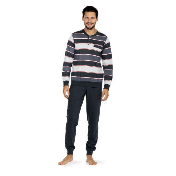 Katoen heren pyjama boorden