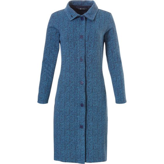 Fleece dames doorknoop lounge dress Pastunette