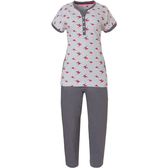 Dames pyjama tropical flower