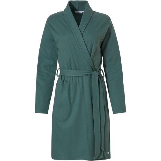Groene katoenen zomer badjas