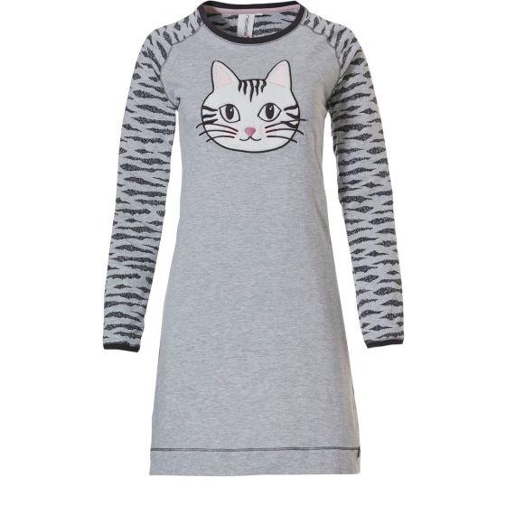 Grijs nachthemd kat