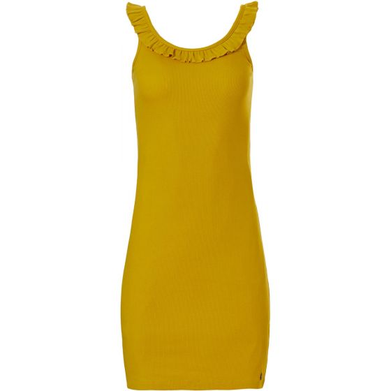 Geel mouwloos nachthemd