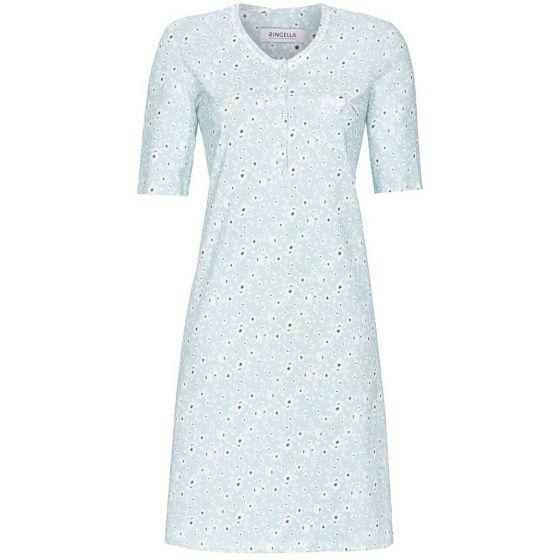 Blue glass nachthemd korte mouwen
