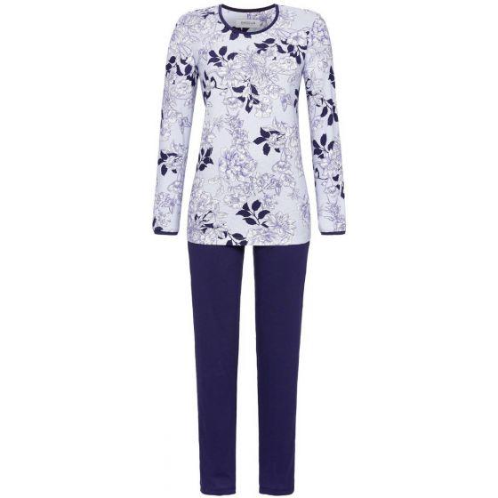 Ringella pyjama blauwe bloemen