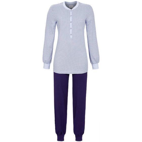 Blauwe warme interlock pyjama Ringella