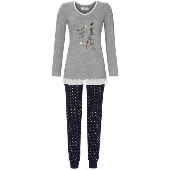 Grijze pyjama Parijs Ringella