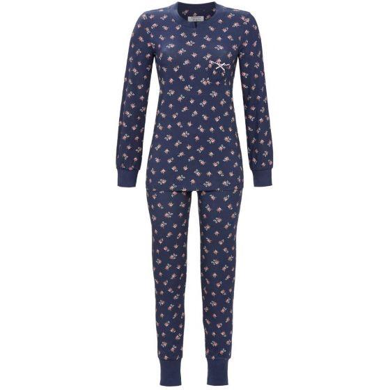 Donkerblauwe bloemen pyjama Ringella