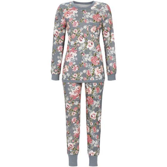Zilvergrijze pyjama bloemen Ringella