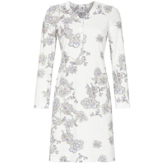Warm wit bloemen nachthemd Ringella