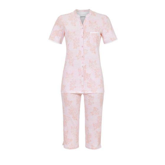 Roze Ringella pyjama bloemen en strepen