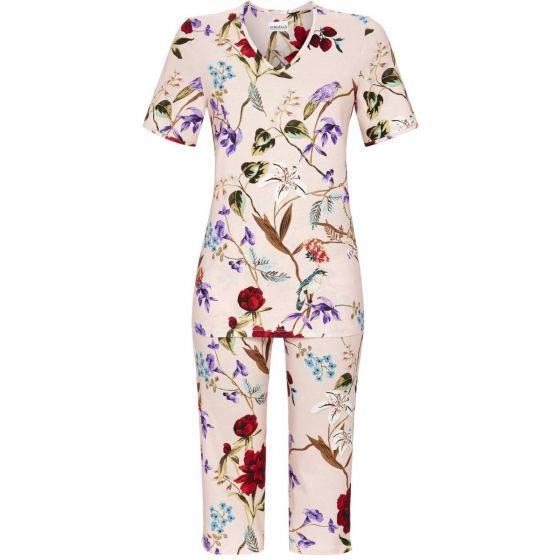 Roze pyjama bloemen en vogels
