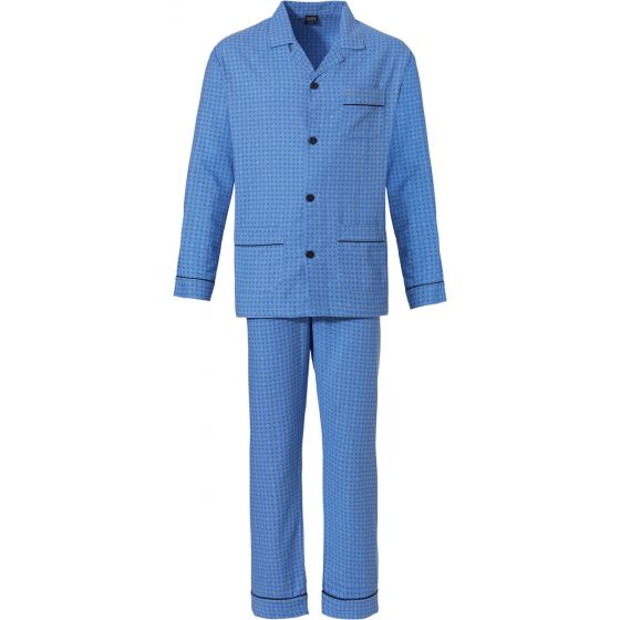 Robson heren pyjama doorknoop flanel
