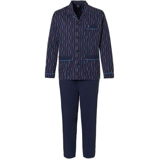 Tricot doorknoop heren pyjama