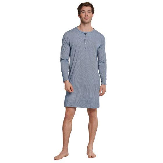 Blauw herennachthemd van Schiesser