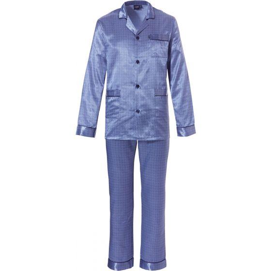 Luxe blauwe satijnen herenpyjama Robson