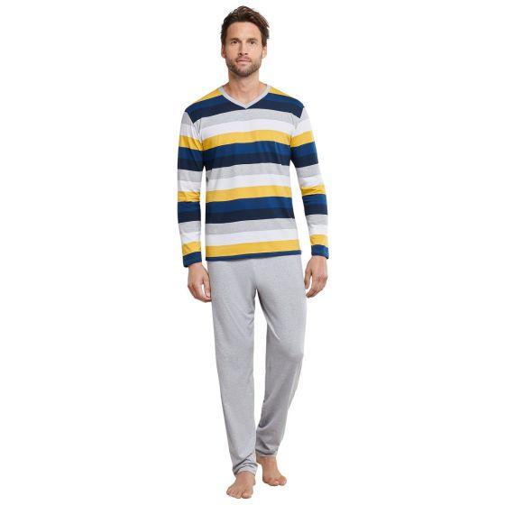 Gestreepte heren-pyjama van Schiesser