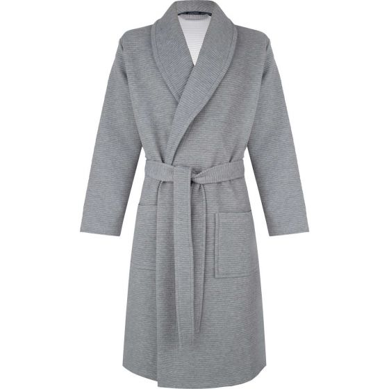 Heren badjas licht grijs Pastunette