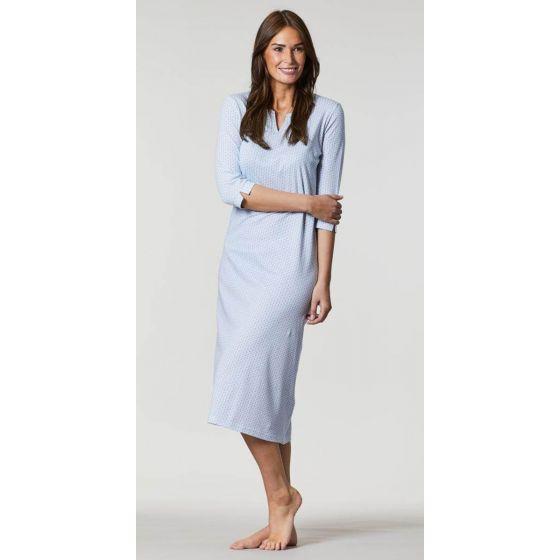 Modern lang nachthemd blauw