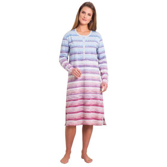 Klima-komfort dames nachthemd streep Hajo