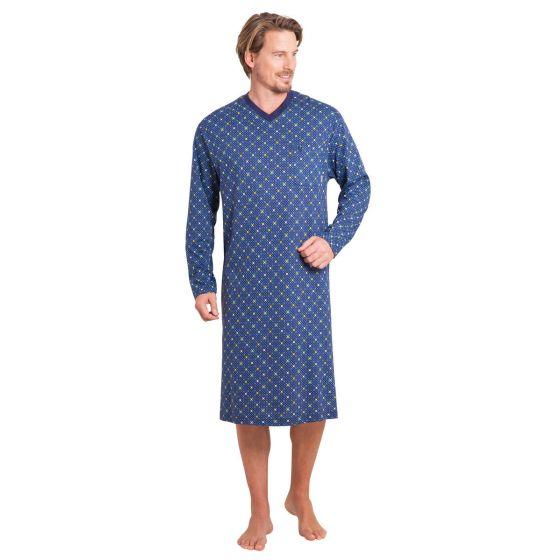 Heren nachthemd blauw Hajo