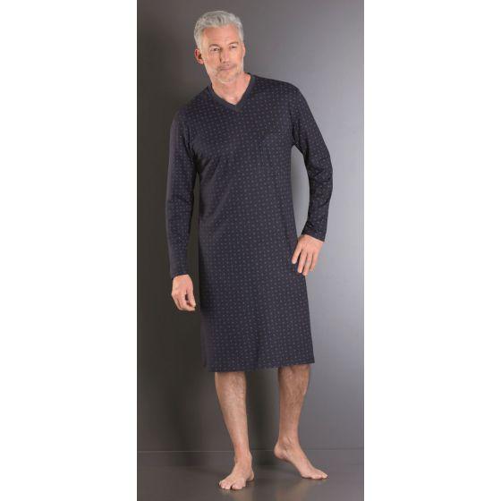 Nachthemd heren blauw Hajo