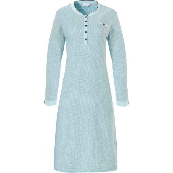 Warm dames nachthemd turquoise Pastunette