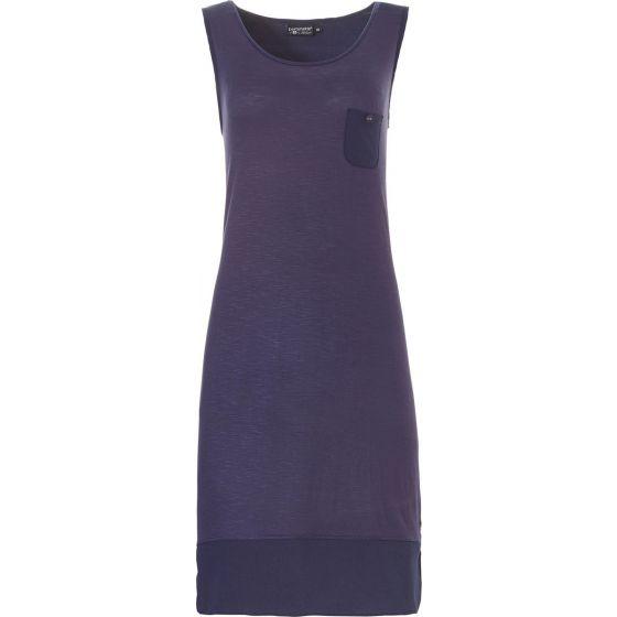 Blauw mouwloos nachthemd Pastunette Deluxe