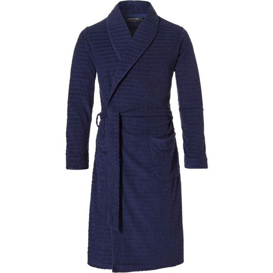Blauwe zomer badjas heren