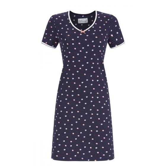 Donkerblauw Ringella Bloomy nachthemd