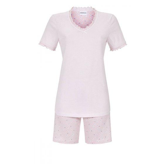 Geruite roze Ringella shortama