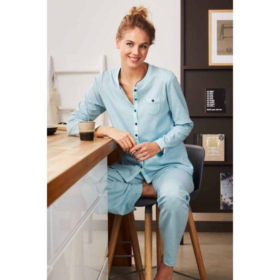 Warme dames pyjama doorknoop Pastunette