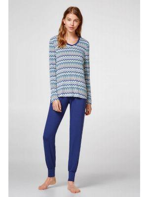 Dames pyjama van Esprit zigzagmotief