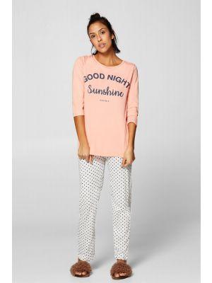 Roze Esprit pyjama Good Night