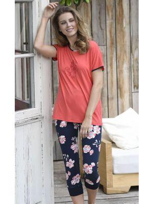 Dames pyjama Ringella cayenne