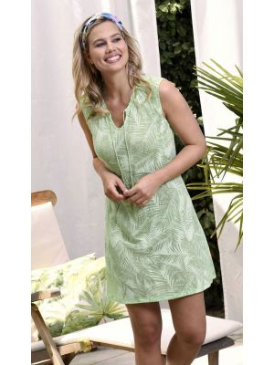 Chic groen nachthemd palm