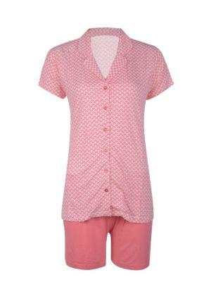 Zalm roze dames shortama van Esprit