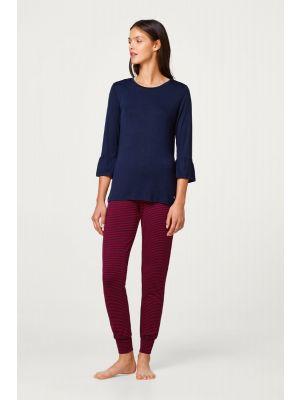 Esprit pyjama rood blauw