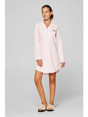Roze doorknoop nachthemd Esprit