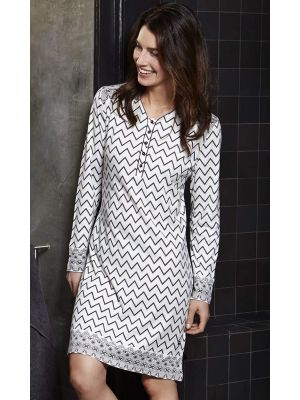 Nachthemd zigzag patroon Pastunette